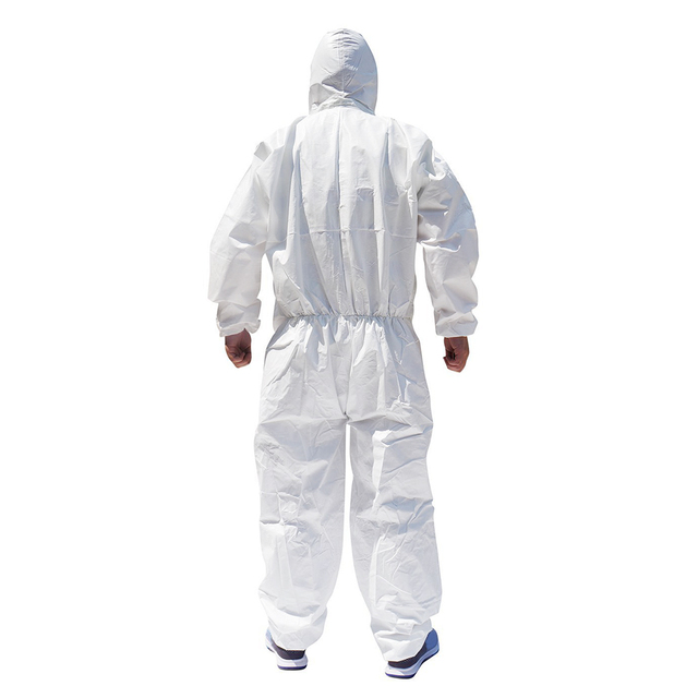 Disposable Hoodies Jumpsuit Coveralls Gown Dust-proof Isolation Clothes Labour Suit Security Protection Hooded Clothing PPE Suit 3