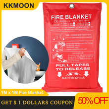 1 متر × 1 متر النار بطانية الألياف الزجاجية النار لهب الطوارئ بقاء النار المأوى غطاء السلامة النار بطانية الطوارئ