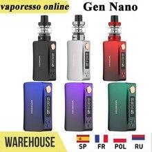 Вейп-набор Vaporesso GEN Nano 80 Вт, электронная сигарета с баком 2000 мл, OLED-экраном 22 и 3,5 дюйма, 0,91 мАч