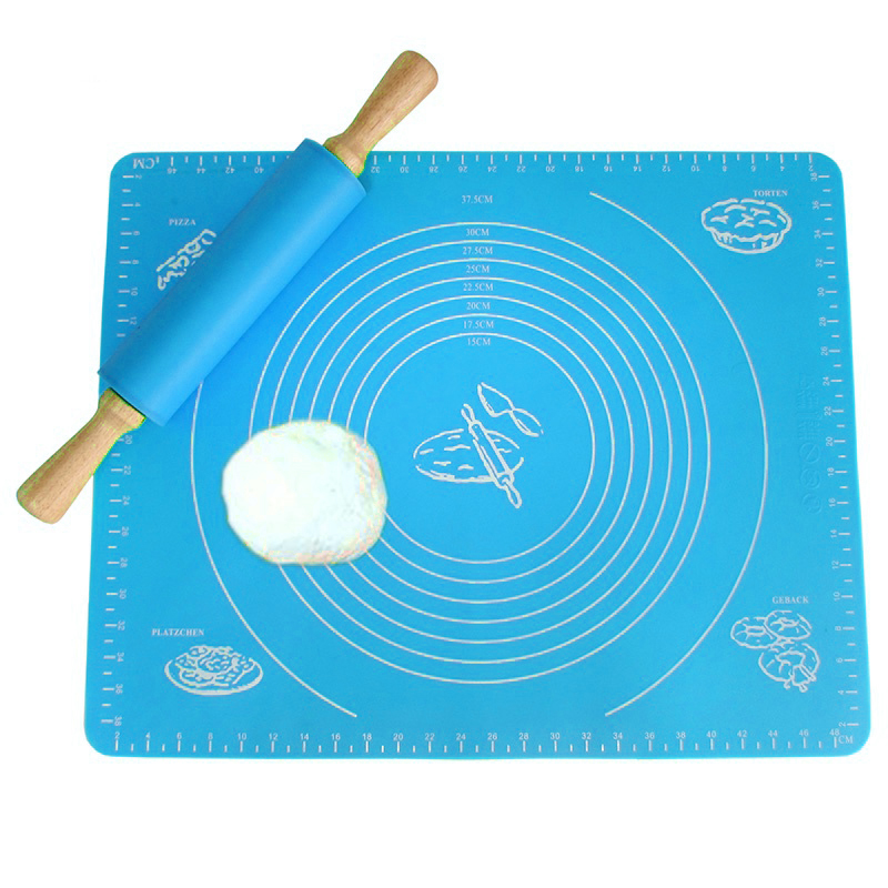 Non-Stick Silicone Baking Mats Pad Pastry Cake Bakeware Chopping Board Rolling Dough Liner Pads Mat for Dining Table Accessories Pakistan