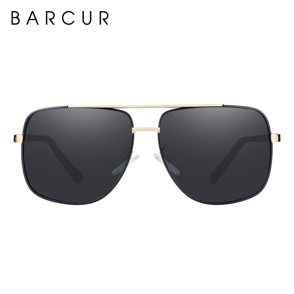 Image 4 - BARCUR lunettes de soleil carrées polarisées  Lunettes de soleil de conduite pour hommes, oculos de solLunettes de soleil homme   -