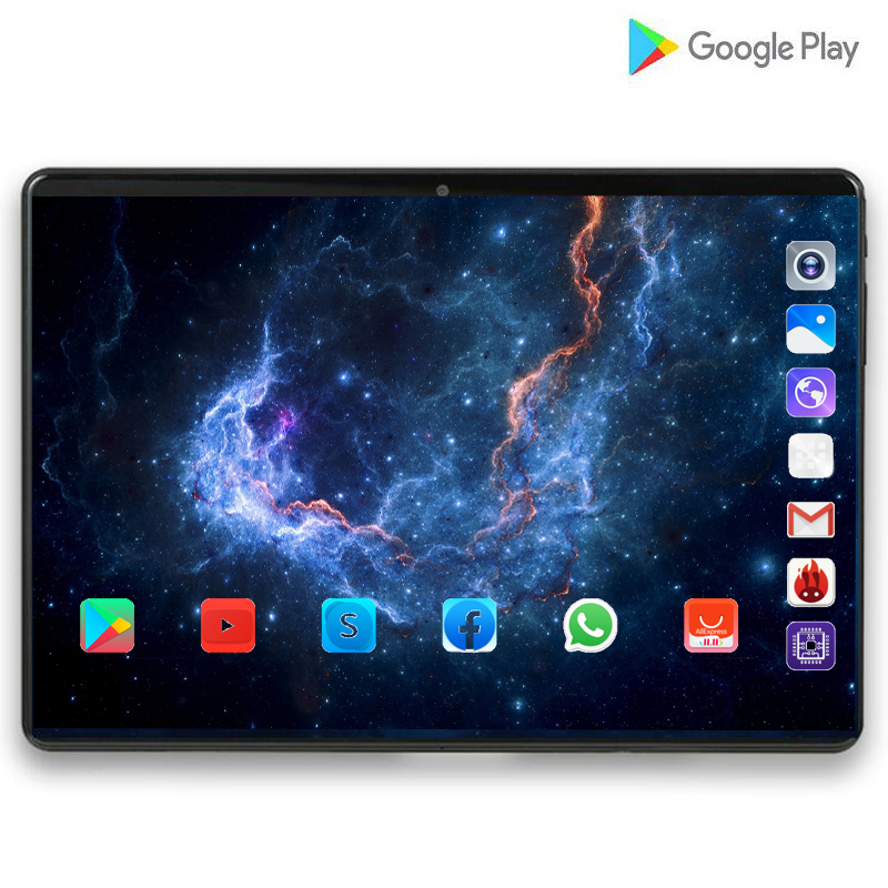 CARBAYTA 7000mAH Global Bluetooth Wifi Android 9.0 10 Inch Tablet Octa Core 6GB RAM 128G ROM Dual SIM Card 2.5D Glass Tablet Pc
