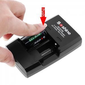Image 5 - Умное зарядное устройство Soshine с 2 слотами для литий ионных батарей RCR123 / RCR2 Rapid, со светодиодным индикатором для аккумуляторов 14250 CR2 16340 17335 15266