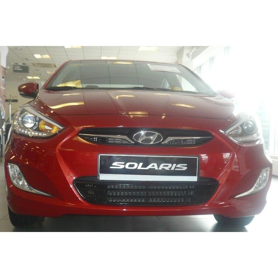 Mesh On Bumper Exterior For Hyundai Solaris 2011-2014, Black, 15mm (Solaris)