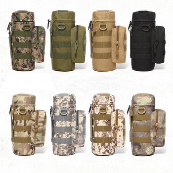 Molle System Military Kettle Waist Bag Durable Tactical Water Bottle Bag Pouch Outdoor Hunting Hiking Waist Kettle Pouch Bag camping sports water bag new outdoor tactical military molle system bottle bag kettle pouch holder