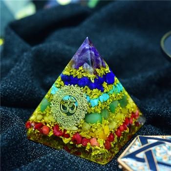 Elite Original 7 Chakra Orgone Pyramid Energy Generator Amethyst Crystal Natrual Stone Reiki Emf Protection For Chakra Healing