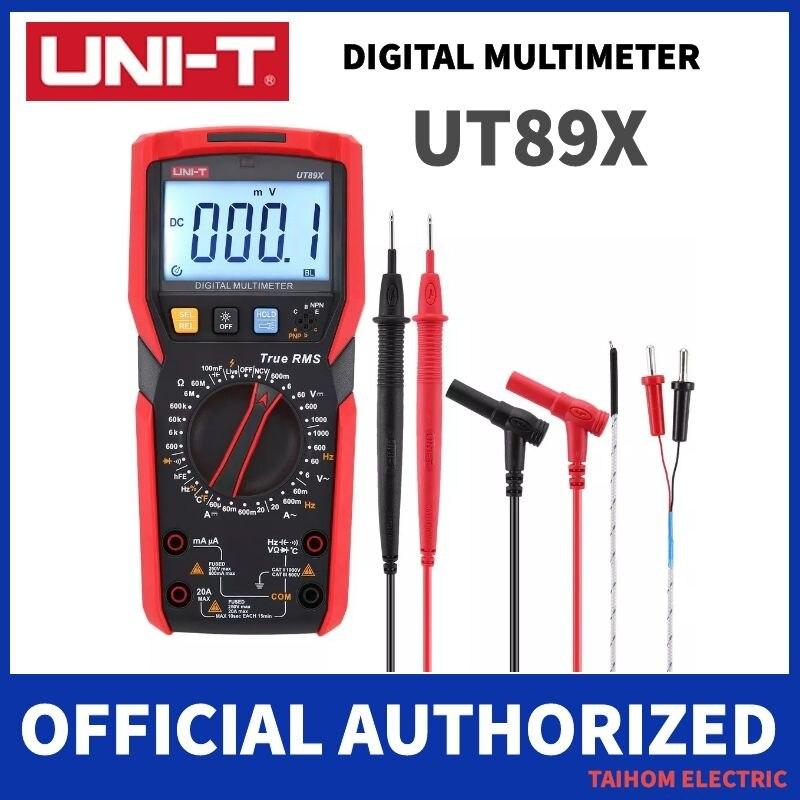 UNI-T multímetro digital profissional ut89x verdadeiro rms ncv 20a corrente ac dc voltímetro resistência capacitância tester