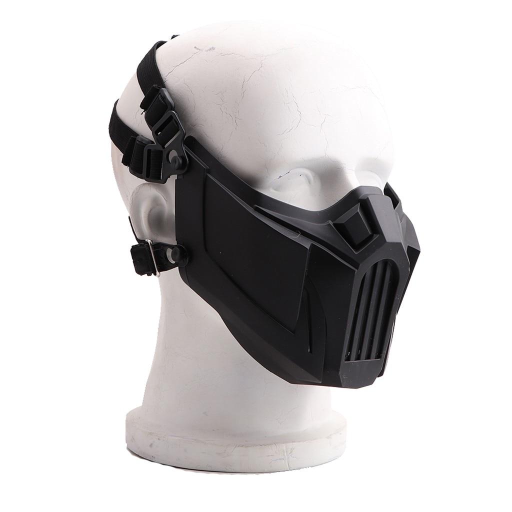 หน้ากากคอสเพลย์ หน้ากากกีฬา ขี่จักรยาน หน้ากากป้องกันใบหน้า ความปลอดภัยจากการบาดเจ็บที่ใบหน้า