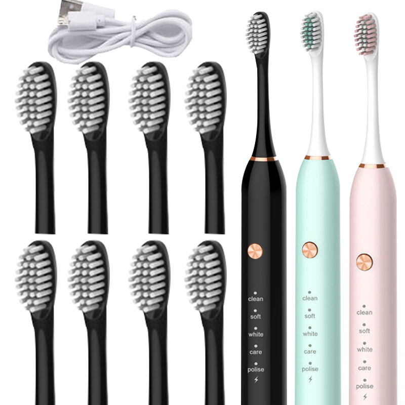 Electric Toothbrush Rechargeable Waterproof Sonic Super Beautiful White Automatic Toothbrush Adult Teeth Whitening