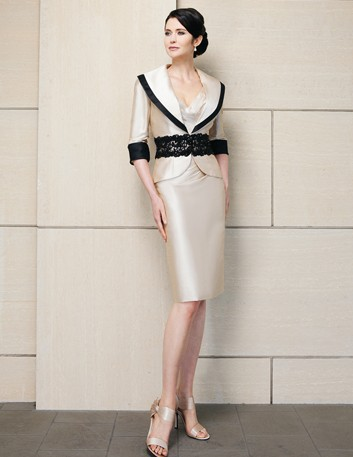 2014 Elegant V Neck Sheath Knee Length Mother Of The Bride Dresses With Jacket Bride Mother Pant Suits Evening Dress