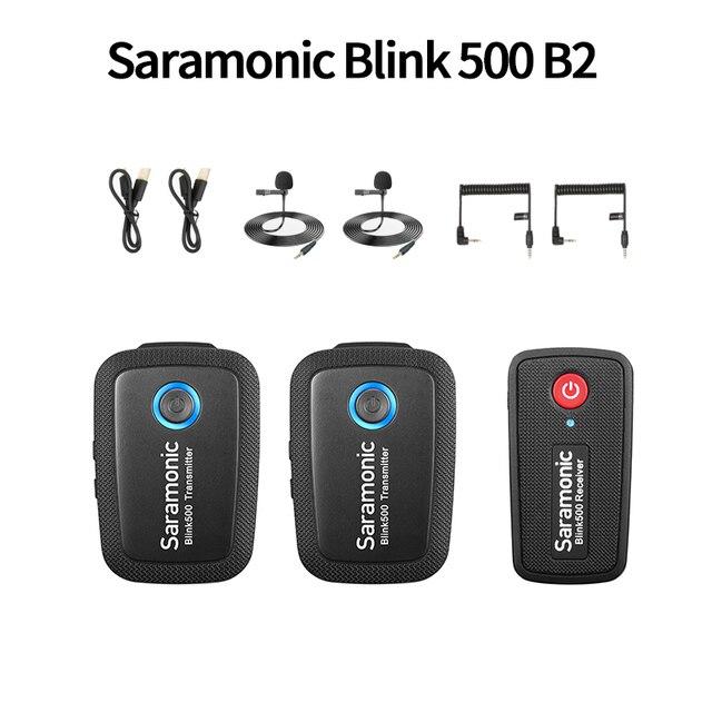 ميكروفون لاسلكي من Boya Saramonic Blink 500 Blink500 B1 B2 B3/4/5 بميكروفون قابل للتحدث مع استوديو مكثف للهواتف DSLR