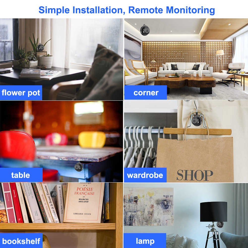 Caméra IP sans fil Mini WIFI 720P stockage en nuage Vision nocturne infrarouge sécurité domestique intelligente moniteur bébé détection de mouvement carte SD
