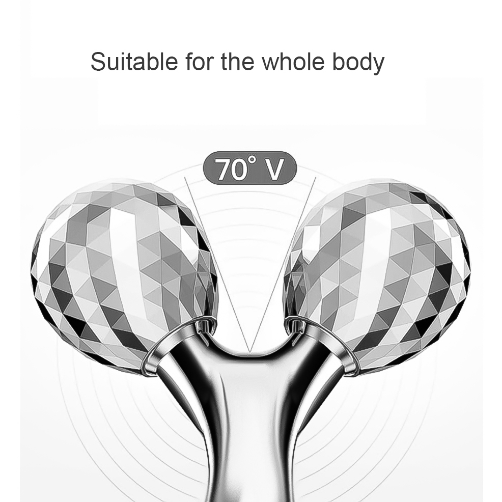 3D ролик для лица Массажер Гладкий Профессиональный тонкий массаж лица вращение на 360 градусов Массажер для всего тела средство для удаления морщин