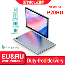 Teclast P20HD 10.1″ Android 10 Tablet 1920×1200 SC9863A Octa Core 4GB RAM 64GB ROM 4G Network AI Speed-up Tablets PC Dual Wifi
