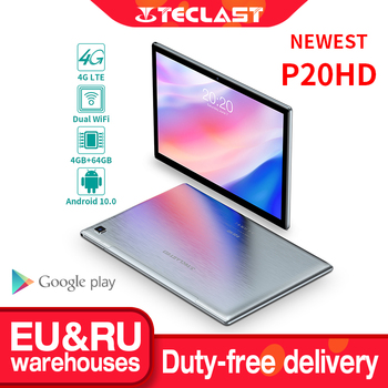 Teclast P20HD 10.1'' Android 10 Tablet 1920x1200 SC9863A Octa Core 4GB RAM 64GB ROM 4G Network AI Speed-up Tablets PC Dual Wifi
