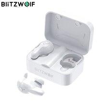 [БЕЛЫЙ] Blitzwolf BW FYE1 TWS Наушники Беспроводная связь Bluetooth 5.0 Наушники Двухсторонний вызов Автозапуск Стерео Наушники вкладыши Наушники с зарядным устройством