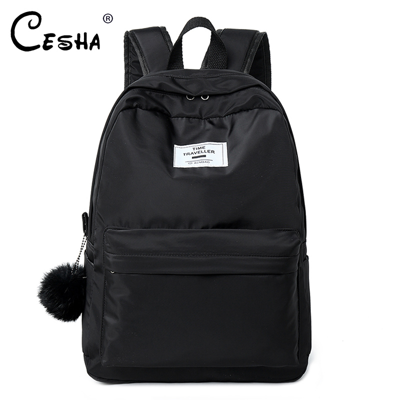 Fashion Casual Girls School Backpack High Quality Waterproof Nylon School Bag Pretty Style Schoolbag Backpack for Teenager