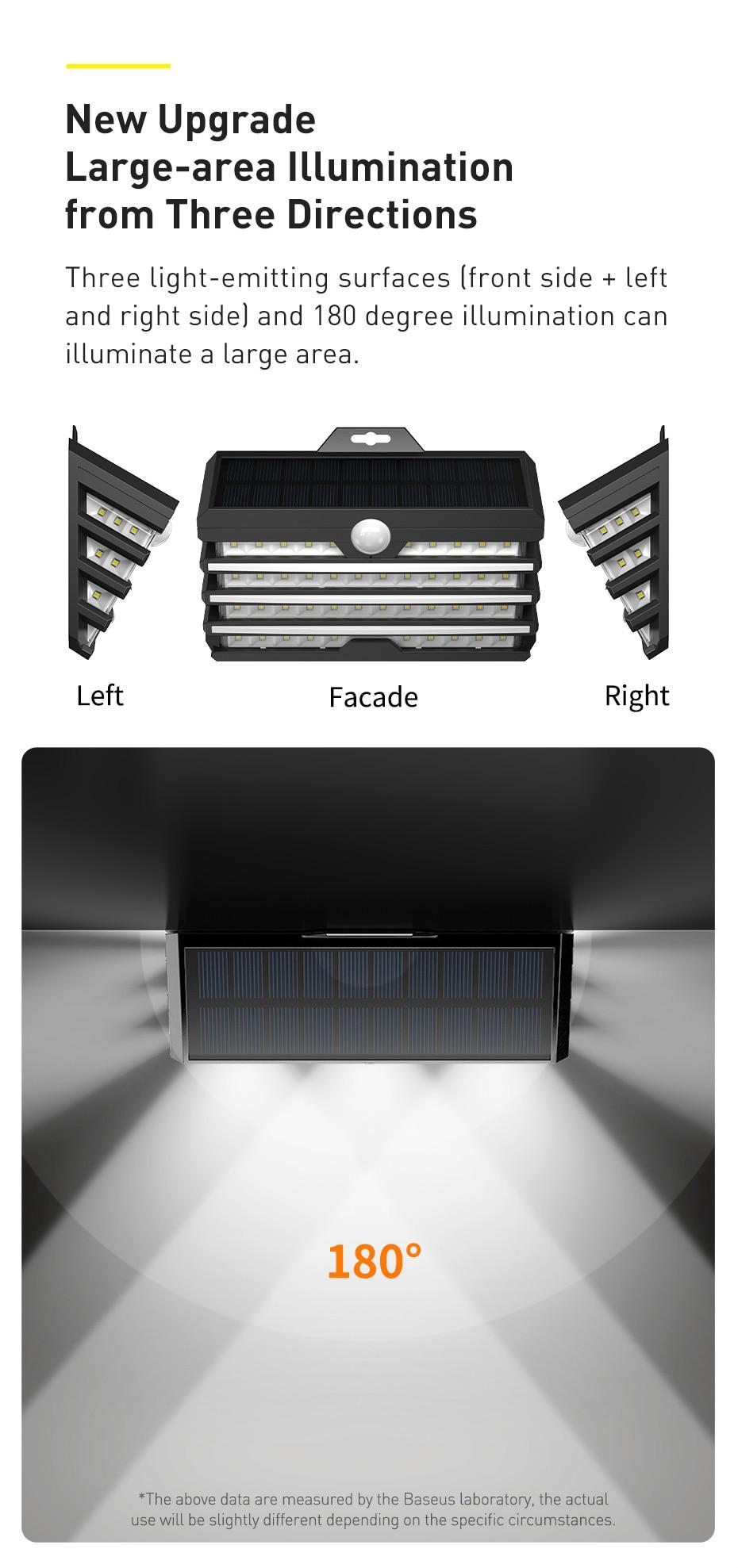 BASEUS ENERGY SOLAR LED LIGHT OUTDOOR WALL LAMP 6