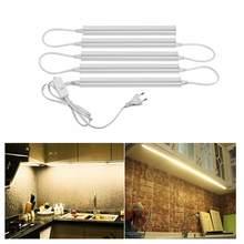 Lâmpada de cozinha led com interruptor, iluminação para cozinha perfil de barra perfil t5 t8 conjuntos sob móveis armário quarto luz noturna decoração de casa