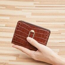 williampolo 100% leather wallet men's short card bag multifunctional zipper wallet