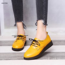 Women's shoes 2019 autumn large size low heel lace up single shoes autumn and winter flat shoes casual shoes women's shoes z213 free shipping small size 2018 autumn imitation rabbit fur shoes tassel women s shoes flat single shoes pointed and velvet