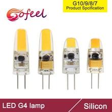 5 pièces G4 LED ca cc 10V 12V 30V 1W 1.5W lampe à LED ampoule COB SMD LED G4 lampe à intensité variable remplacer halogène projecteur lustre