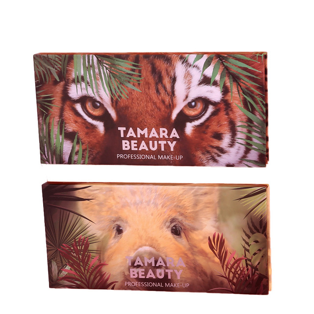 Eyeshadow Pallete 12 Color Colorful Waterproof Concealer Makeup Pallete Lasting-Effect Eye Shadow Animal Pig Tiger Eyeshadow 4