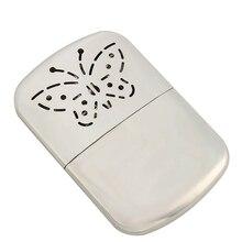 Портативный карманный Платиновый Стандартный топливный обогреватель для рук для дома и улицы удобный обогреватель из цинкового сплава