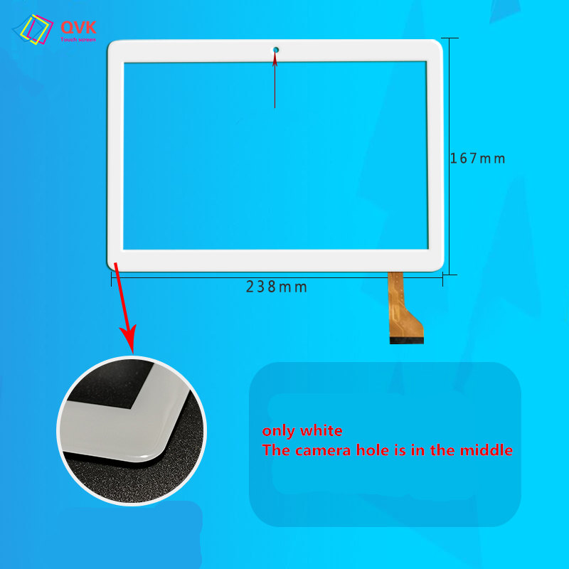 White 10.1 Inch Touch Screen For BDF X20 Tablet PC Capacitive Touch Screen Panel Repair Replacement Parts