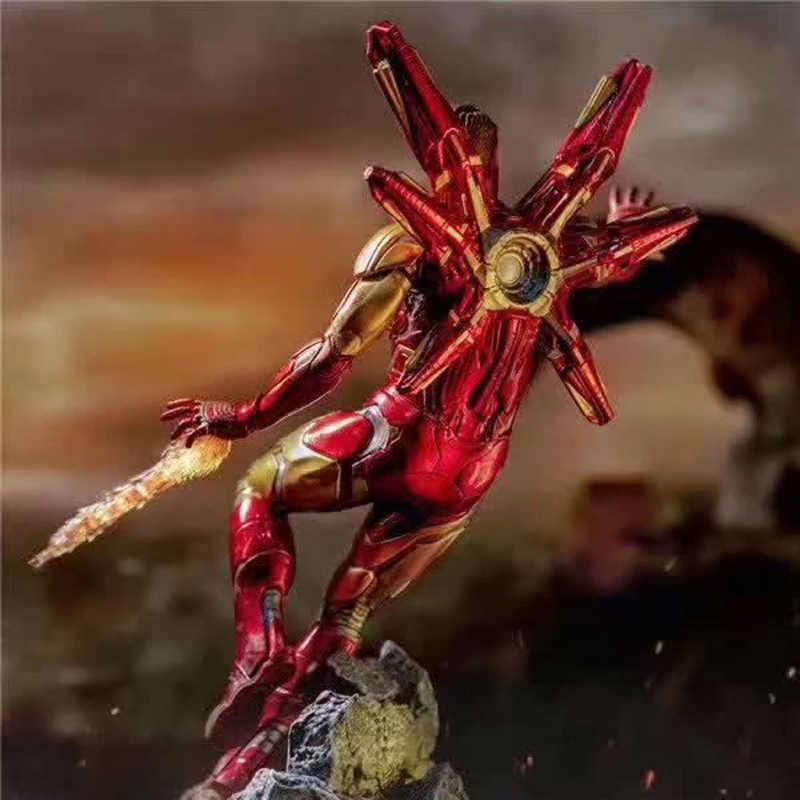 26 سنتيمتر فيلم جديد المنتقمون Endgame الرجل الحديدي MK50 الوجه تغيير تمثال عمل الشكل دمية على شكل عروسة عيد الميلاد جمع هدية