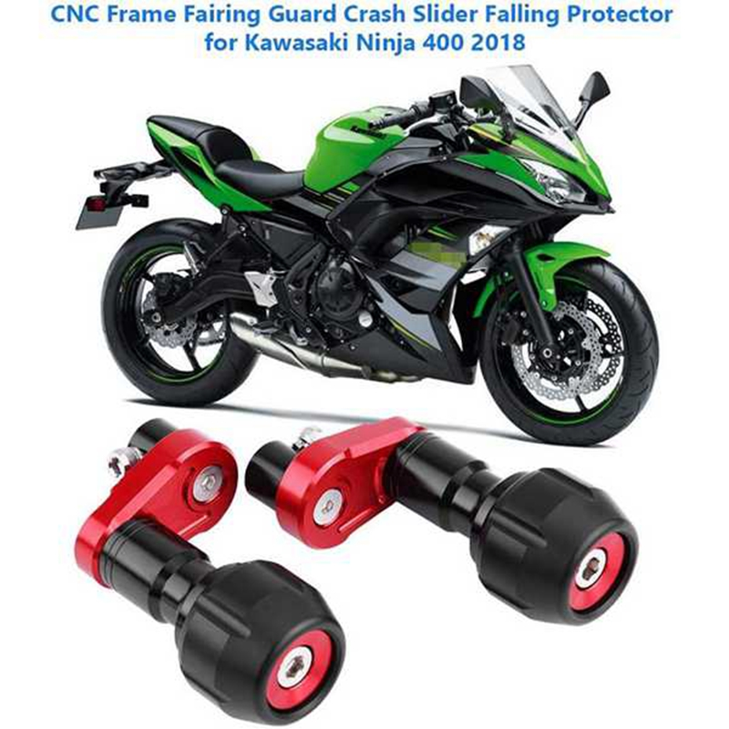 Motorcycle Falling Protection Frame Slider Fairing Guard Crash Pad Protector for Kawasaki Ninja 400 Z400 2018-2019