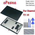 OPesea لهواوي MediaPad T5 10 AGS2-L03 AGS2-W09 AGS2-L09 AGS2-AL00HA شاشة الكريستال السائل لوحة محول الأرقام بشاشة تعمل بلمس الزجاج الجمعية