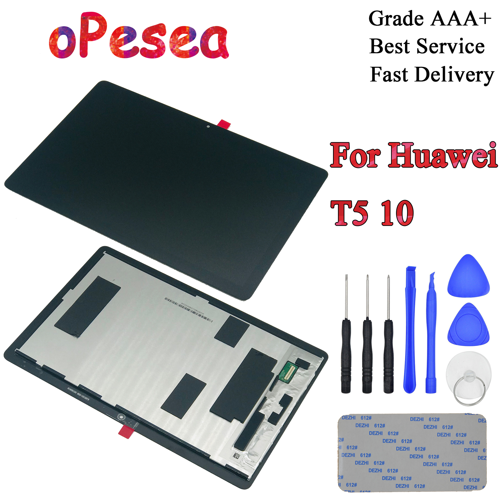 OPesea For Huawei MediaPad T5 10 AGS2-L03 AGS2-W09 AGS2-L09 AGS2-AL00HA LCD Display Panel Touch Screen Digitizer Glass Assembly