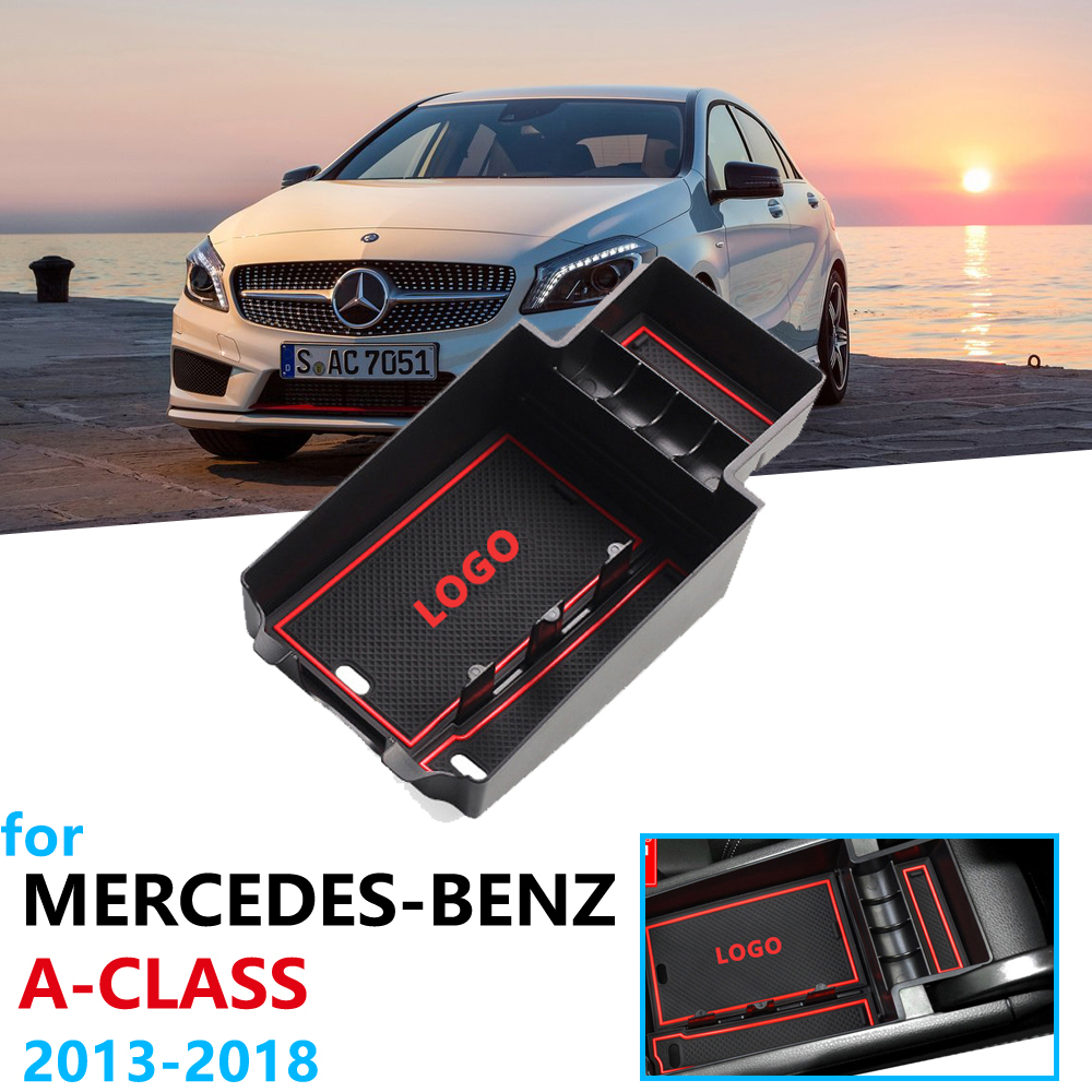 Car Organizer Accessories for Mercedes Benz A-Class W176 2013 2018 Armrest Box Storage A180 A200 A220 A250 A45 AMG 2015 2016
