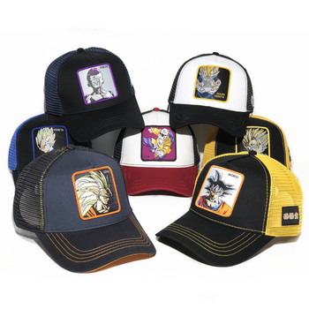 New Brand Anime Dragon Ball Snapback Cotton Baseball Cap Men Women Hip Hop Dad Mesh Hat Trucker Hat Dropshipping new patchwork hat stars personality baseball cap hip hop kpop cap men and women teenagers