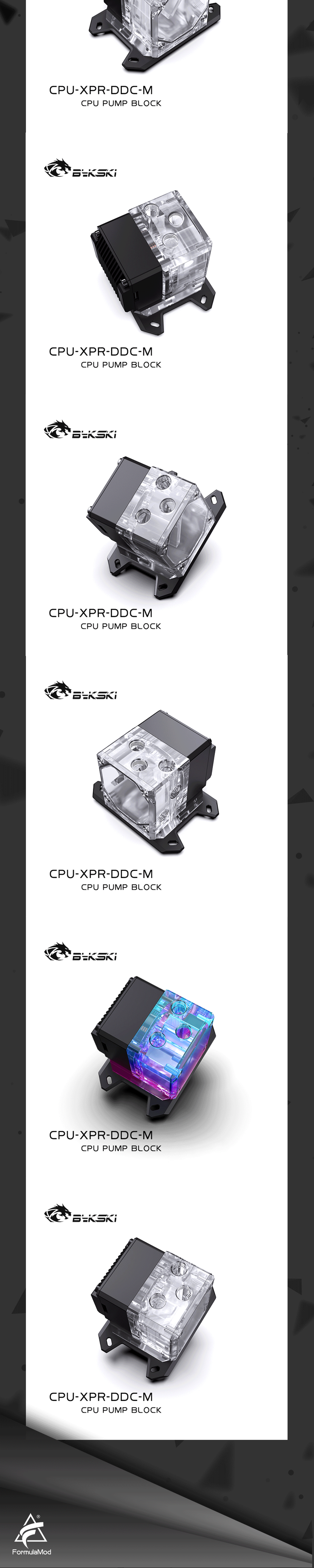 Bykski CPU-XPR-DDC-I CPU-XPR-DDC-M CPU Inter / AMD Water Pump ITX Motherboard I7 i9 AM4 for Computer Liquid Build Water Block