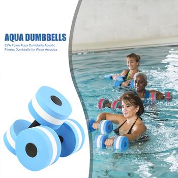 Pianki EVA Aqua hantle do aerobiku wodnego ćwiczenia wodne zestaw 2 do pływania na plaży sporty wodne tanie i dobre opinie Dorośli Aqua Dumbbells