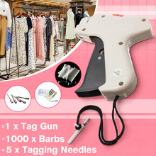 Kiwarm 1Set Clothes Garment Price Label Tagging Tag Tools Machine+1000 Barbs+5 Steel Needles(China)