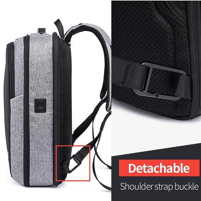 Bange Anti Theft Men Business 15.6 inch Laptop Backpacks Waterproof  External USB Charge Backpack School Fashion Travel Rucksack 4