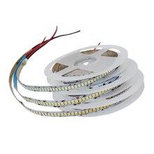 DC 5 в 12 В 24 В SMD 2835 Светодиодный светильник 5 м белая светодиодная лента не водонепроницаемая лампа светильник-полоски для кухни домашний деко...