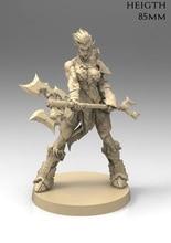 1/22 85 Millimetri Orc Femminile Guerriero Stand (Senza Base) Figura in Resina Kit Modello in Miniatura Gk Unassembly Non Verniciata