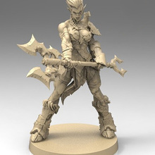 No-Base Miniature Orc Resin Figure Model-Kits Warrior-Stand Unassembly Unpainted 1/22