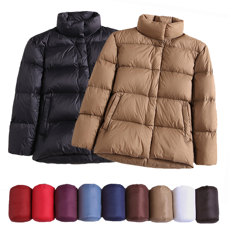 2020 New Winter Down Jacket Women Puffer Jacket Light Slim Warm Down Coats Female Casual Tops Winter Plus Size Parka for Women|Down Coats| - AliExpress