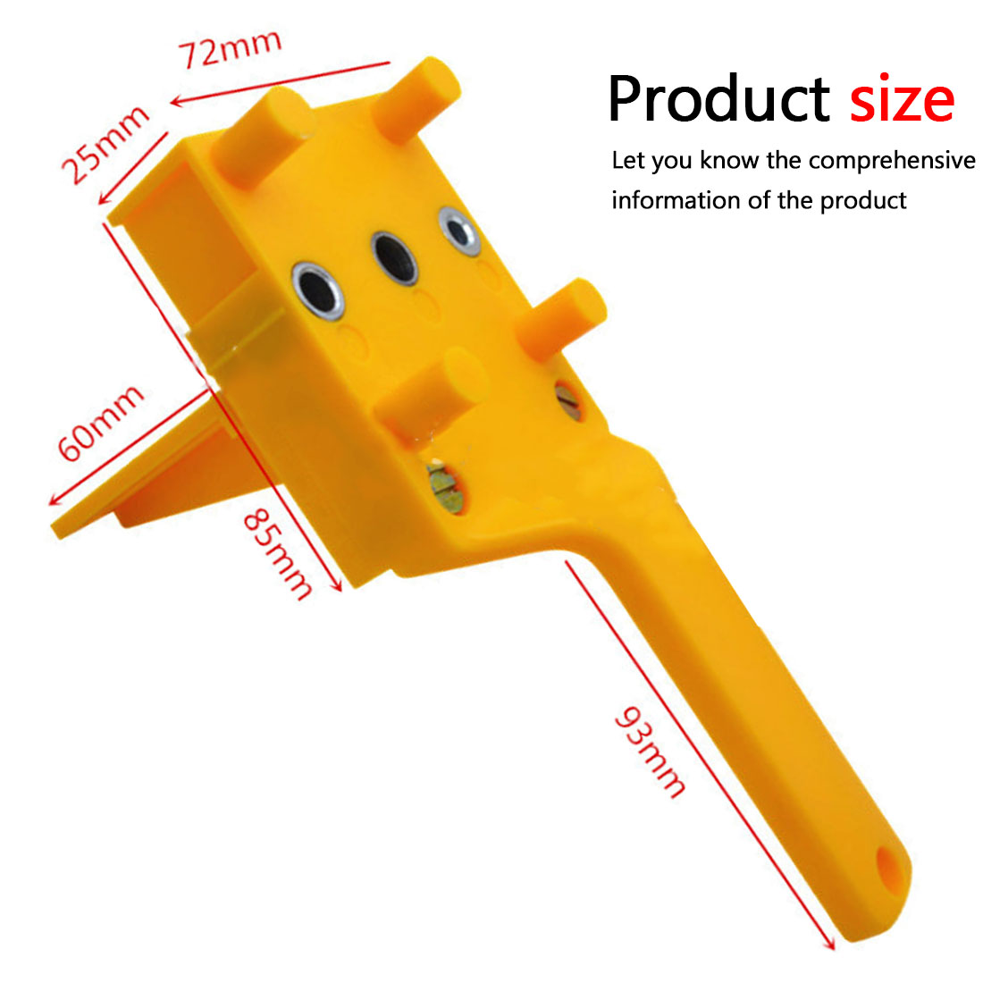 Doweling Jig 6/8/10mm Handheld Pocket Hole Jig Set Woodworking Wood Dowel Self Centering Puncher Drill Guide Locator Jig|Hand Tool Sets| |  - title=