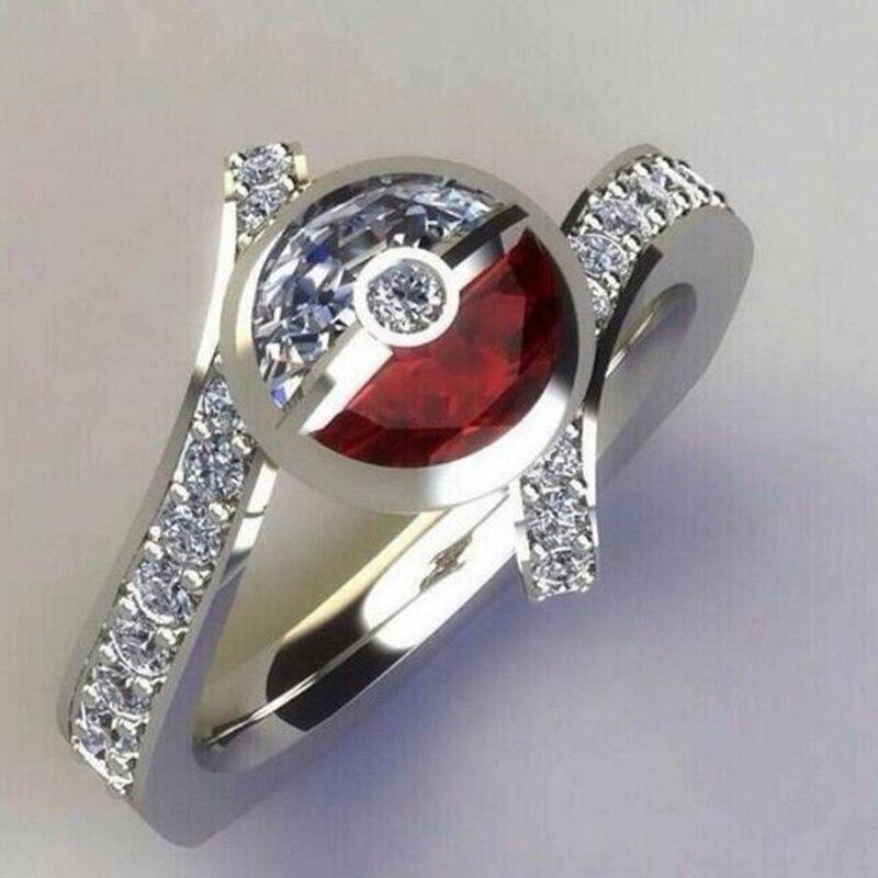 Креативное красное и белое кольцо 2019 Новое модное Подарочное кольцо на день рождения для женщин обручальное кольцо