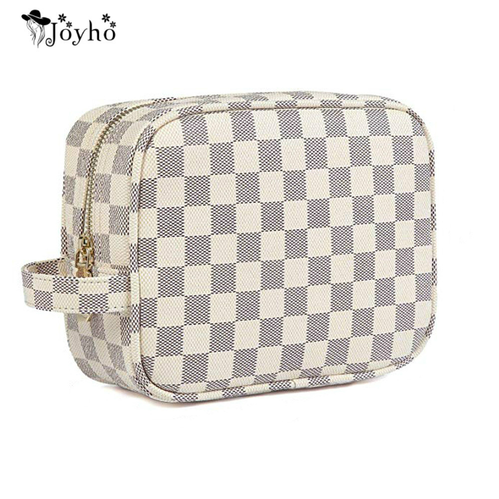 Cosmetic-Bag Travel Toiletry Beauty Mini Waterproof Color Lattice Hot-Sale High-Capacity