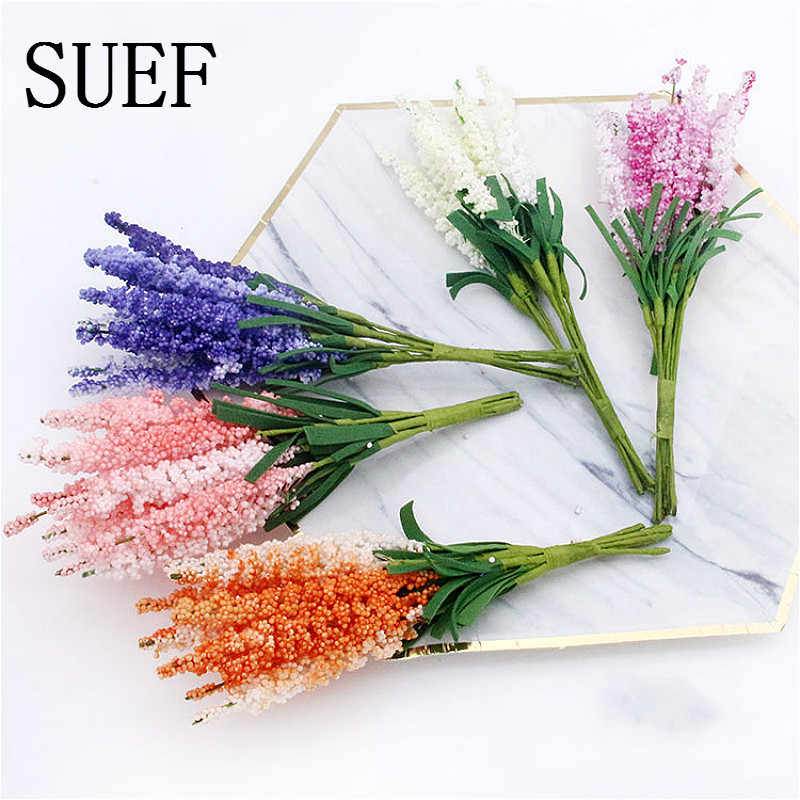 Suef 5/10 Pcs Baru 15 Cm Simulasi Lavender Buatan Busa Simulasi Gandum Kerajinan Tangan Bunga Dekoratif Floret Bunga Buatan @ 5