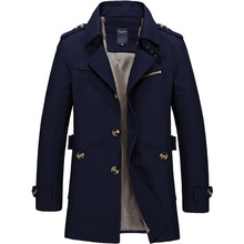 Men solid color Jacket Coat Trench Coat New Autumn Black Casual Fit Overcoat Jacket Outerwear Male Turn-down Collar Windbreaker все цены
