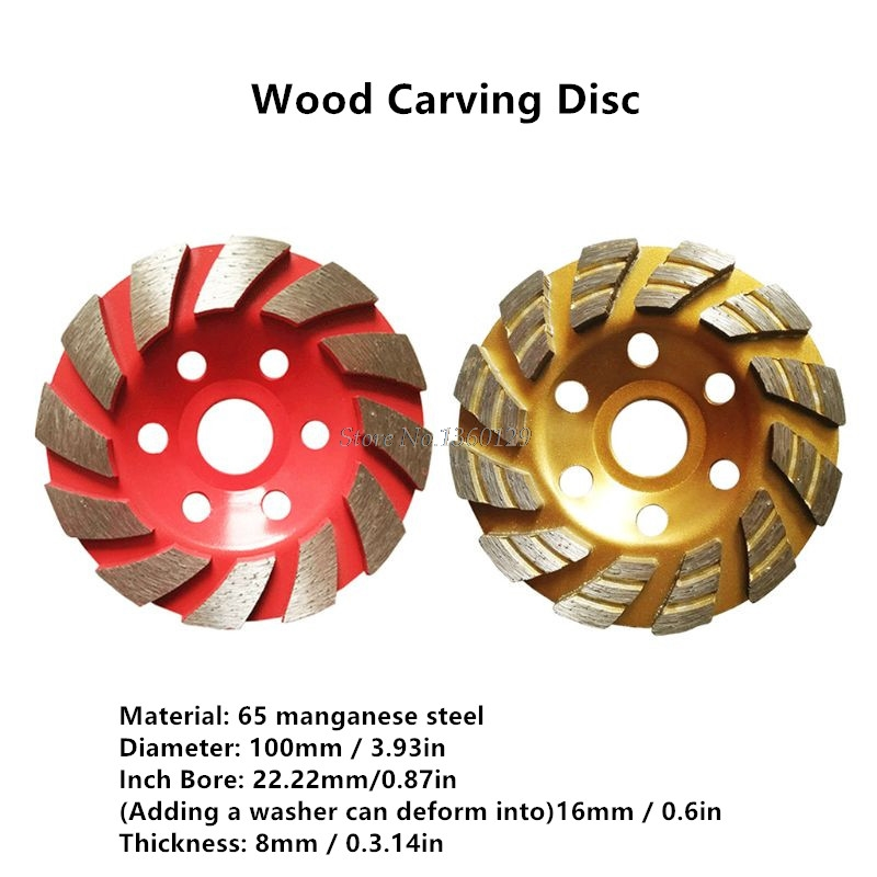 12 Teeth 16mm Multifunctional High Hardness Wood Carving Disc Angle Grinder Accessories Woodworking Tool Whosale&Dropship