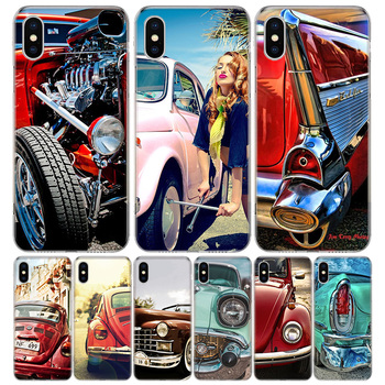 Classic Vintage Old Retro Car Phone Case For Apple IPhone 11 12 Pro Mini XR X XS Max 7 8 6 6S Plus + 7G 6G 5 SE 2020 Luxury Patt image